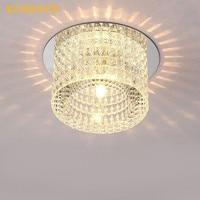 Modern LED Crystal Light Aisle Lamp Corridor Entrance Crystal Living Room Foyer Surface Mounted Embedded LED Ceiling Lights