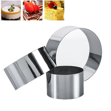 3pcs/set Stainless Steel Round Mini Cake Mousse Mold Cookie Cutter Circle Ring Chocolate Fondant Cheese Decorating