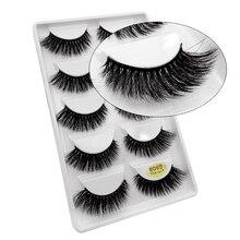 50 paires de cils en gros vison cils naturels longs faux cils maquillage 3D vison cils pleine faux Extensions de cils