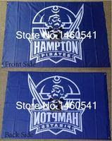 Hampton Pirates Flag 3ft X 5ft Polyester NCAA Banner Hampton Pirates Flying Size No 4 144