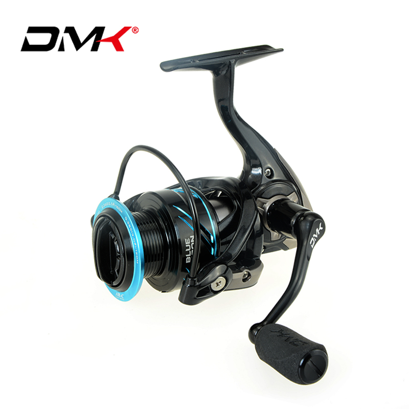 цена на DMK Fishing Reel Spinning 1000 1500 2500 3000 4000 5000 10BB/11BB 5.2:1 Saltwater Lure Fishing Reel Spinning Wheel Carp Fishing