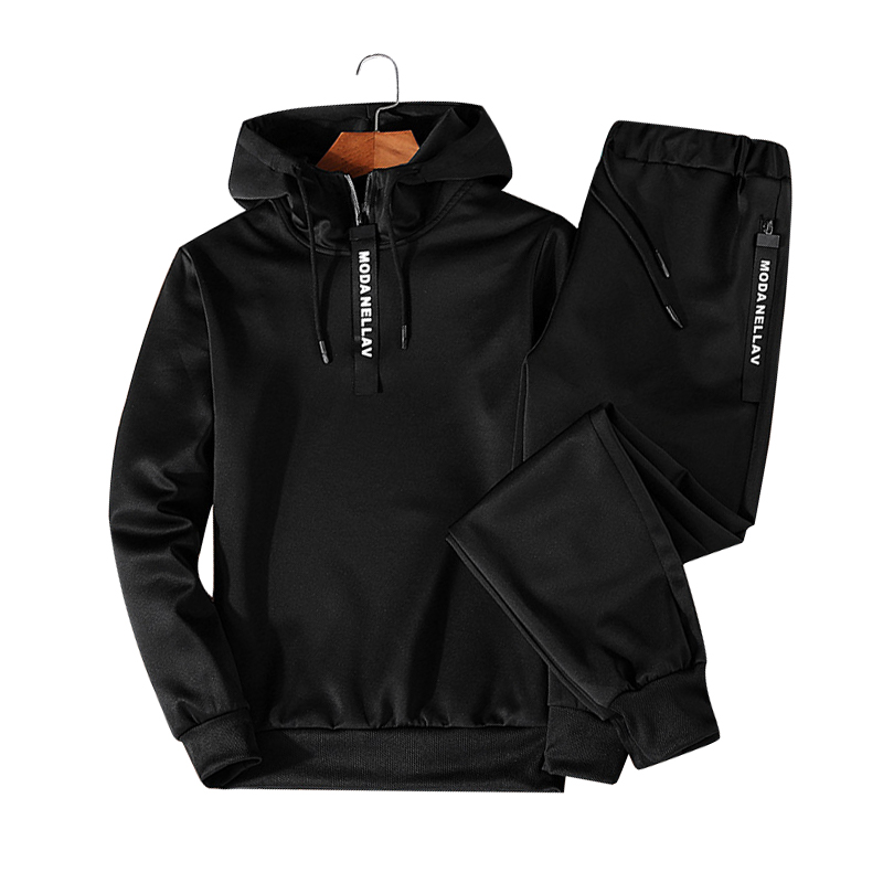 Hoodies-Set-Men-Clothing-2018-Autumn-Casual-Two-Piece-Zipper-Hooded-Sweat-Pants-Suit-Mens-Sportwear