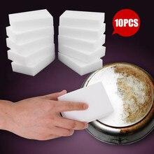 10 шт губка Ластик кухонные тряпки для вытирания пыли, салфетки домашняя принадлежность для чистки микрофибры для чистки посуды Волшебная моющая Губка 10*6*2 см
