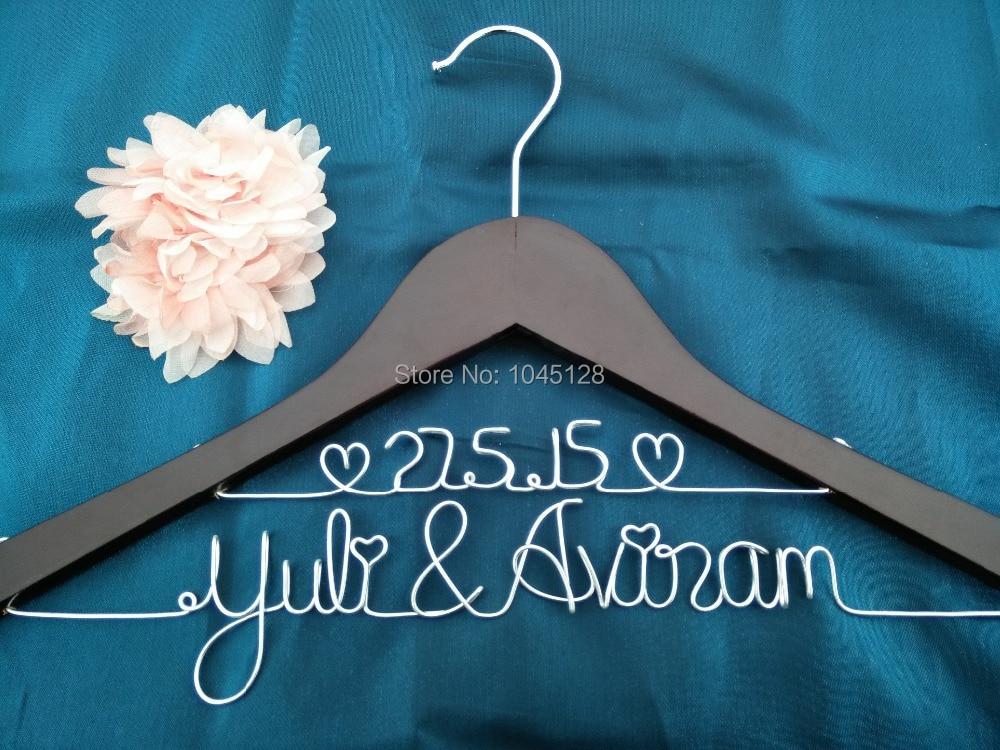 Распродажа персональная Свадебная Вешалка с датой или без двойной линии на заказ Свадебная Вешалка крючки для подружки невесты