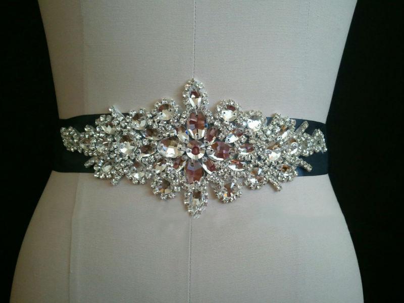 SAINT FORT NIA Wedding Dress Crystal Belt (52)