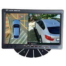 7 inch HD Car/Truck / bus Monitor  1024X600 HDMI Interface TFT LCD AV VGA  Rear View Monitor DC 12V/24V