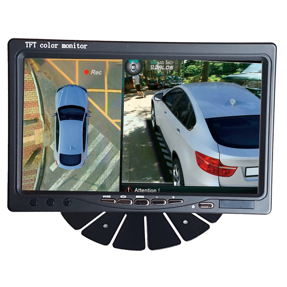 7 inch HD Car/Truck / bus Monitor  1024X600 HDMI Interface TFT LCD AV VGA  Rear View Monitor DC 12V/24V hot sale super hd 7inch lcd tft color monitor 1024 600 built in speaker car monitor display vga av hdmi speaker