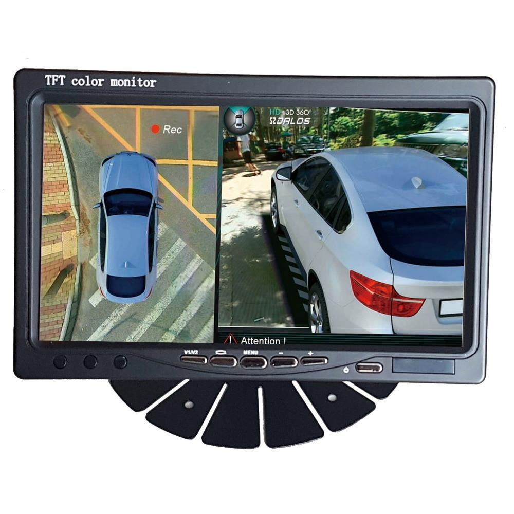 все цены на 7 inch HD Car/Truck / bus Monitor  1024X600 HDMI Interface TFT LCD AV VGA  Rear View Monitor DC 12V/24V онлайн