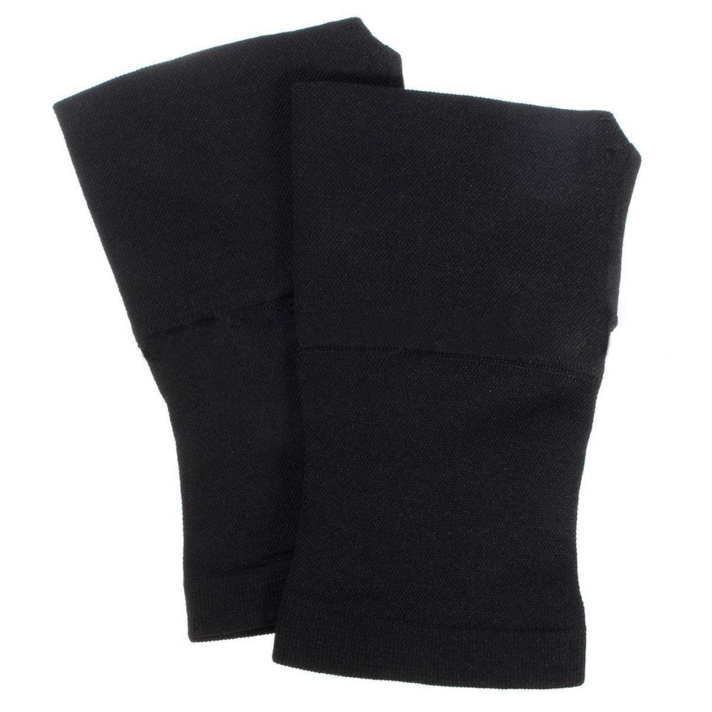 a pair of Thumb Brace Carpal Tunnel Wrist Elastic Hand Support Strap Bandage Compress, Black, XL