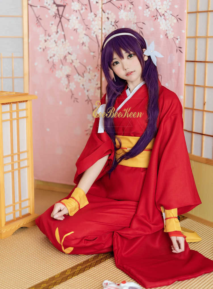 a1bb6bd9a03 ... Anime Cosplay Inuyasha Cosplay Costume Women Red Dress Japanese Kimono  6ps For Halloween Christmas New Year