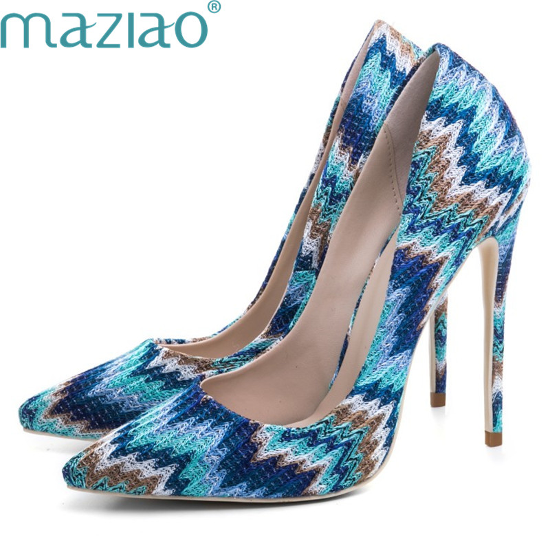 Female Shoe Pointed Toe Color Matching Rubber Fine Heels Rome Style Shoes Woman High Heel Sexy Shoes MAZIAO