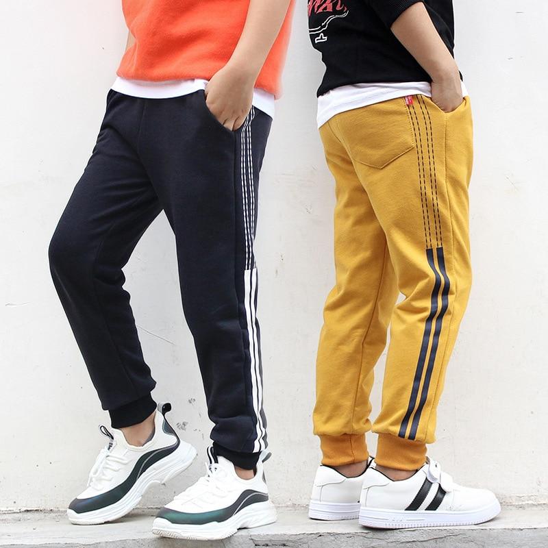 Boys Pants Kids Girls Pants Side Stripe Unisex Cotton Trousers Children Sport Pants Casual Kids Clothes Age  6  8 10 12 14 Year 1
