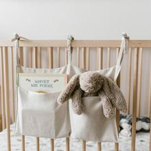 Storage-Bag Hanging-Organizer for Bunk And Hospital-Bedsdorm Rooms Cool Crib Double-Compartment-Storage