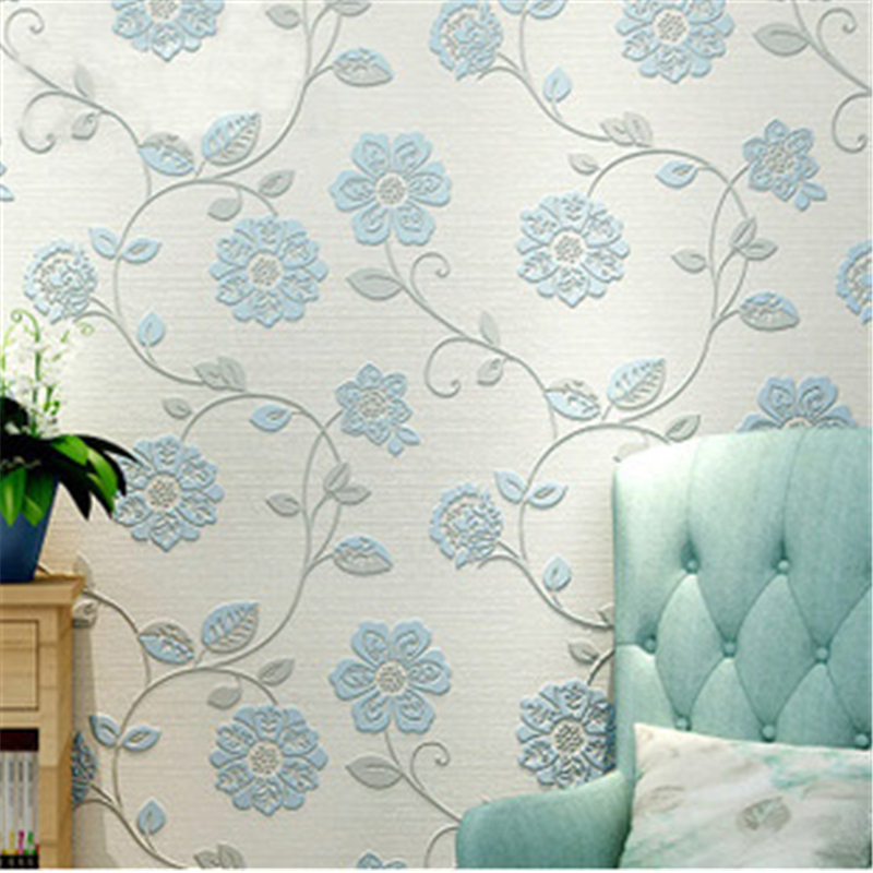 beibehang New Pastoral Cosy Floral Wallpaper Durable Thicken Non-woven 3D Wall Paper Mural Flower Wallpapers Rural Papier Pe fashion rustic wallpaper 3d non woven wallpapers pastoral floral wall paper mural design bedroom wallpaper contact home decor