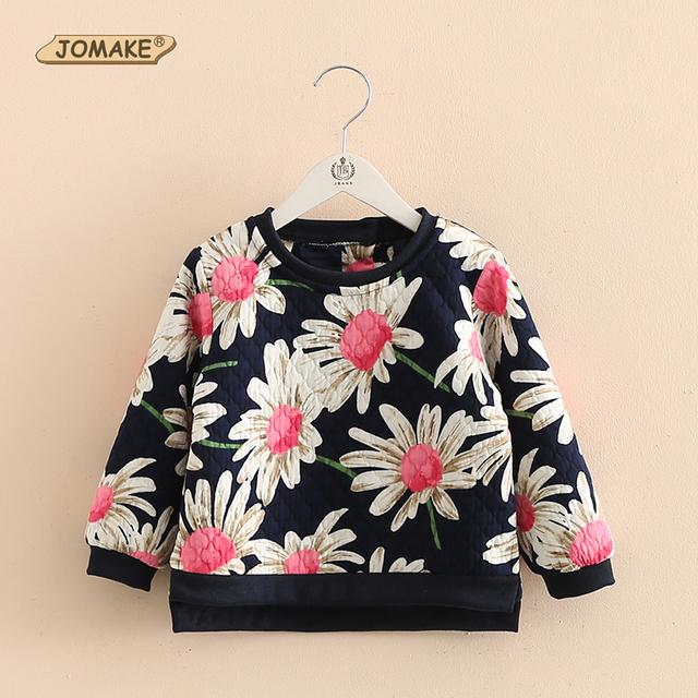 Los bebés de la primavera otoño suéteres de algodón niñas cómodo flor sudaderas lindo impreso floral de moda casual clothing