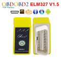 Viecar Mini ELM327 Bluetooth Power Switch Yellow/ Black ELM 327 V1.5 OBDII Diagnostic Tool With Multi-Languages Free Shipping