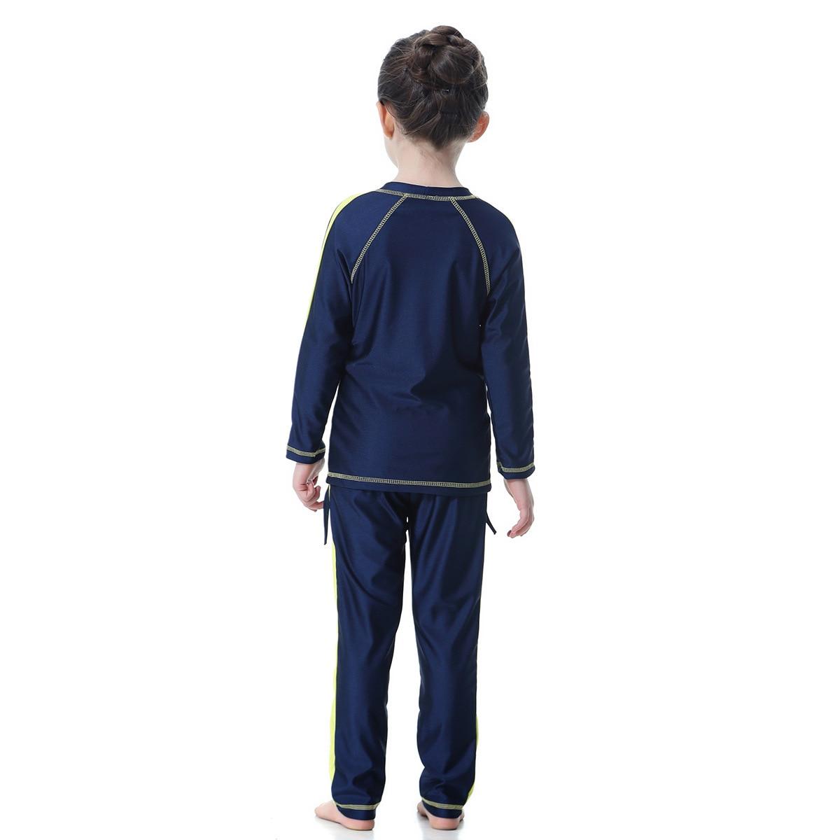 Image 4 - Мусульманский купальник для девочек; два предмета; Детские  купальники с длинными рукавами; консервативный купальник; детская  спортивная одежда в арабском стилеМусульманский купальник   -