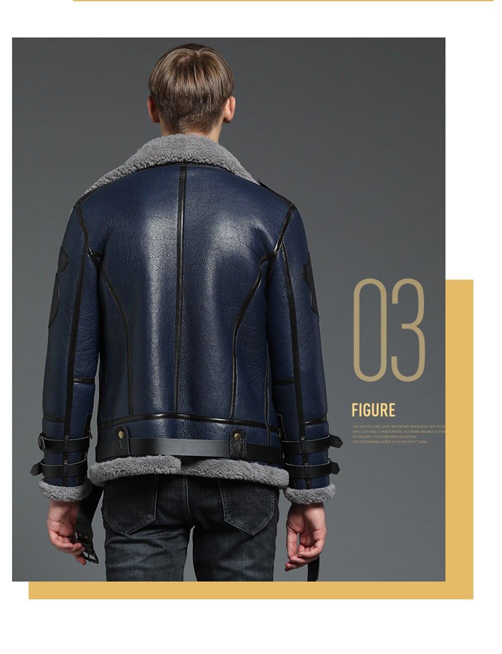 HTB1ufNeXp67gK0jSZPfq6yhhFXaY 2019 Fashion 100% Quality Real Sheepskin Fur Men Coat Genuine Full Pelt Sheep Shearling Male Winter Jacket Brown Men Fur Outwear