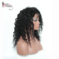 Loose Curly Silk Base Lace Front Human Hair Wigs Ever Beauty Brazilian Remy Human Hair 130% Density Lace Front Wig