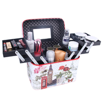 Women Folding Multilayer Professional Large Capacity Makeup Box Tower Cosmetic Organizer Portable Travel Storage Case Gift