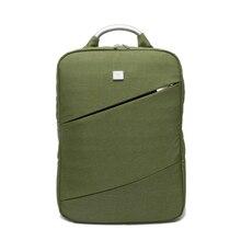 De moda de Corea Cómodo Ordenador Portátil de Nylon Impermeable bolsa de Viaje Mochila Hombre y Mujer Solid 15.6 Bolsas Mochilas 5 Colores