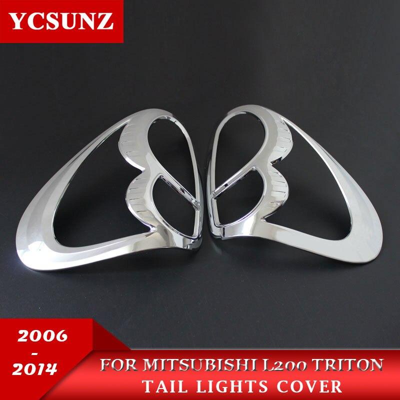 מכונית כרום רצועות סטיילינג אביזרי מנורת קישוט מוצר ABS אחורי מנורת כיסוי למיצובישי L200 טריטון 2006-2014 Ycsunz