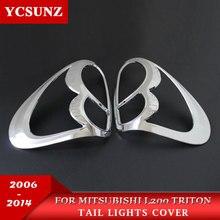 Автомобиль Chrome полоски для укладки аксессуары лампы украшения продукта ABS задняя крышка лампы для Mitsubishi L200 Triton 2006-2014 Ycsunz