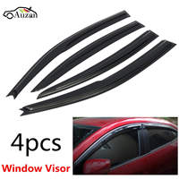 Car Window Visor Rain Sun Guard Vent Shade Set For Mazda 3 Sedan