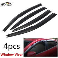 Car Window Visor Rain Sun Guard Vent Shade Set For Mazda 3 Sedan