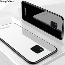 SemgCeKen luxury original hard glass mirror case for huawei mate 20 pro x 20X silicone silicon slim armor back coque phone cover