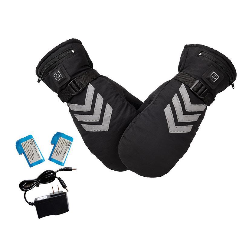 USB зимние теплые перчатки для рук Электрические термоперчатки перезаряжаемая батарея с подогревом перчатки велосипедные мотоциклетные ве...