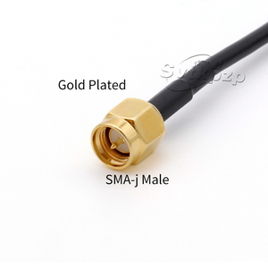 Image 2 - 5dBi Outdoor Waterproof WIFI 2.4ghz Antenna DIY Network Card Wireless Signal Booster 2.4g Bluetooth Dual SMA Antenna 3M 5M Cable