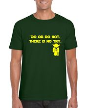 YODA DO OR NOT T SHIRT QUOTE STAR WARS INSPIRED FORCE DAGOBAH FUNNY RETRO Youth Round  T-Shirts free shipping