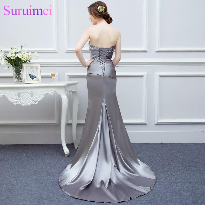 Royal Blue Long Prom Dresses Silver Gray High Quality Sweetheart Burdundy  Champagne Mermaid Prom Dress Women Long Prom Gown-in Prom Dresses from  Weddings ... 64a3da3a9