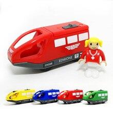 Juguete magnético eléctrico para tren de juguete, juguete de construcción con riel de madera, pequeño conductor locomotor, tortas calientes, venta de productos de calidad, modelo D554