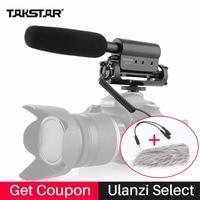 Внешний моно микрофон направленный Takstar SGC-598 Интервью Моно Микрофоны для Съемок Видео Shotgun Микрофон для Nikon Canon DSLR Видеокамеры