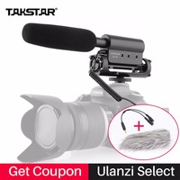 Takstar Interview Microphone Photography Interview Shotgun MIC For Nikon Canon DV Camcorder DSLR