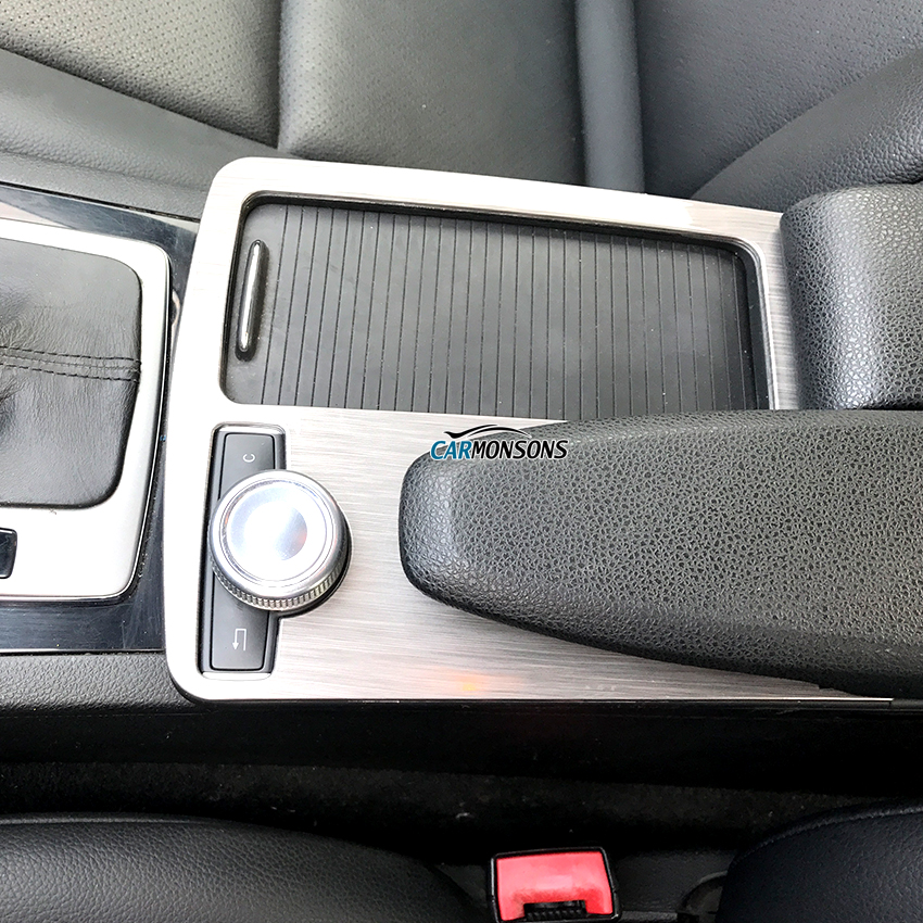 Carmonsons Console Armrest <font><b>Stickers</b></font> Trim Cover for Mercedes Benz C Class W204 C180 <font><b>C200</b></font> 2008-2014 LHD Accessories Car Styling image