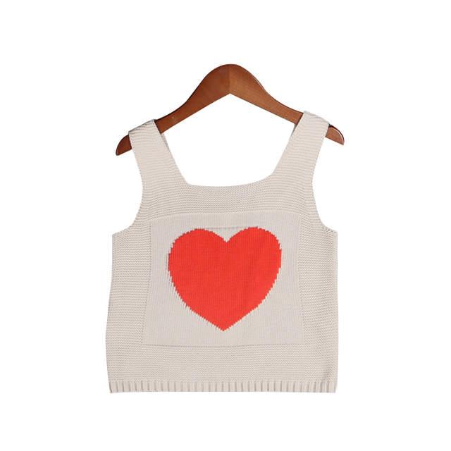 1954c2edc Coração De Malha Meninas Camisola Moda Infantil Crochet Colete Para A Menina  do Algodão Revestimento Do