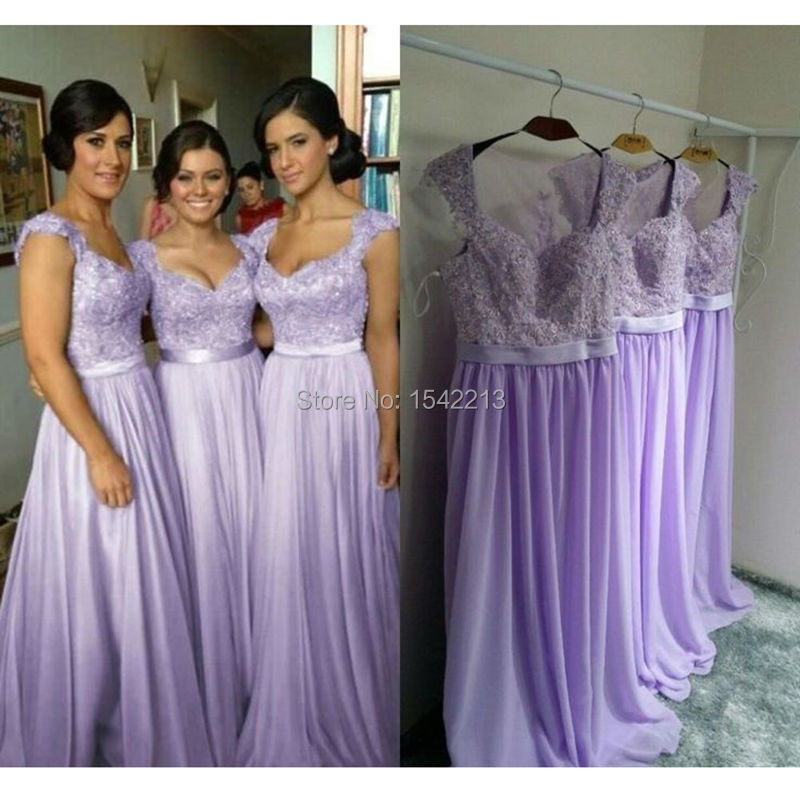 Online Get Cheap Light Purple Lace Beaded Bridesmaid Dresses ...