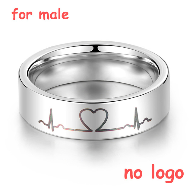 Engrave Name Couple Rings Stainless Steel Comfort Fit Ring Laser