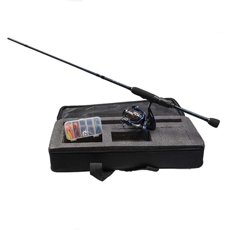 Fishing Rod Reel Combo Including 5 Section Carbon Fishing Rod Spinning Fishing Reel Cloth Bag Lure Set Full Fishing Rod Set Kit цена