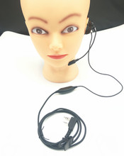 2pin walkie talkie headset with stick ear microphone headset accessories PPT Jian Baofeng uv-5r bf-888s