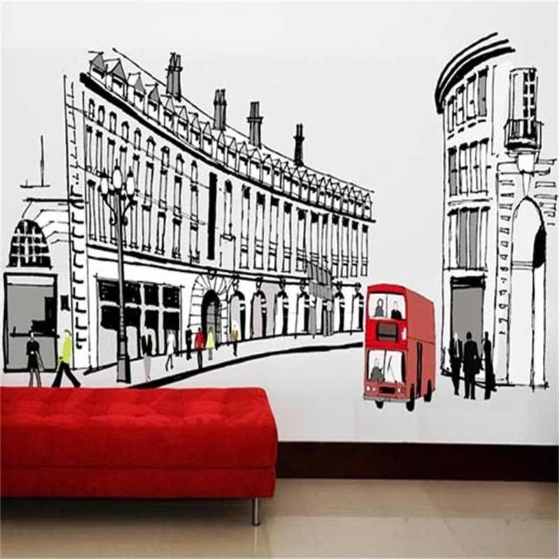 Hot Sell Big Ben In London Architecture Series Wall Stickers Living Room Bedroom Vinyl Mural Art Wall Decals Posters Adhesive
