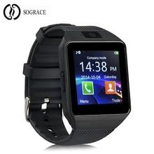 Купить с кэшбэком New 2018 Smart Watch DZ09 Wrist With Men Bluetooth Electronics SIM Card Sport Smartwatch Camera For iPhone Android Phone Watch