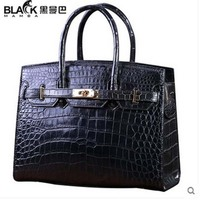 heimanba Crocodile female handbag luxury black dinner ladies bag crocodile leather woman handbags