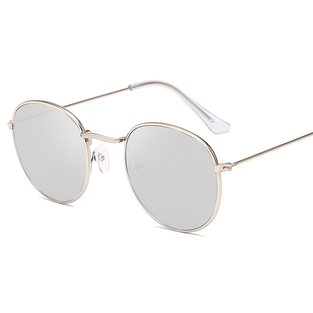 Classic Small Frame Round Sunglasses Brand Designer Alloy Mirror Sun Glasses 3