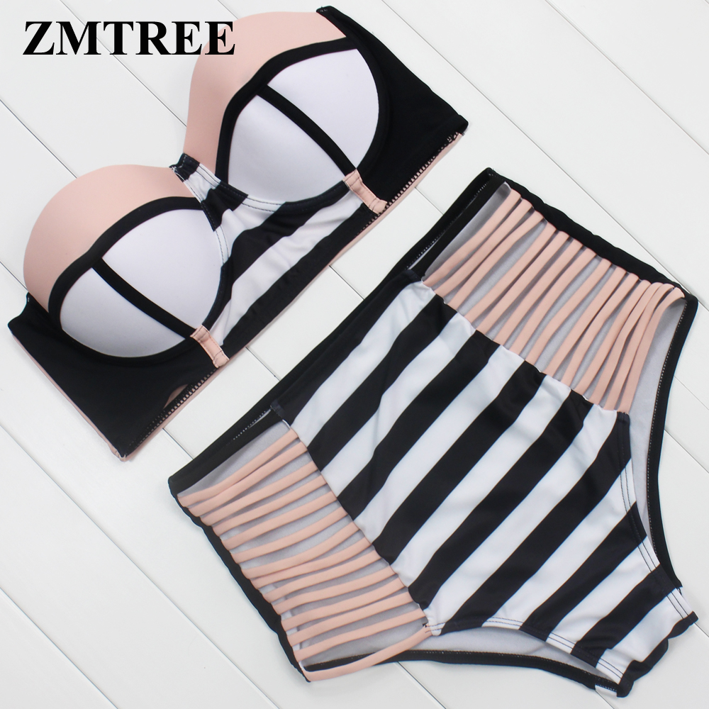 ZMTREE Swimsuit 2017 Bikini Swimwear Push Up Maillot De Bain Woman Bikini Set High Waist Beachwear Bathing Suit Sexy Biquini XL hatley зонт для девочки hatley