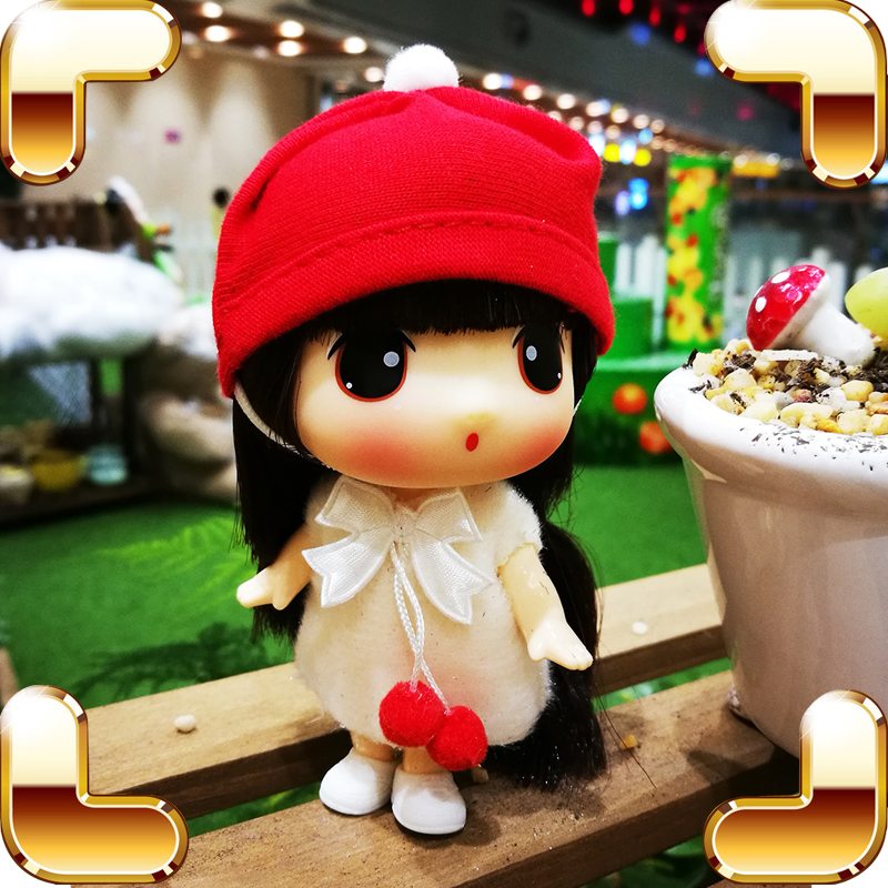 New Coming Gift Cute Baby Girl Toy Dolls Cartoon Figure Decoration Bag Pendant Wearable Cloth Doll Kids Women Fashion Present