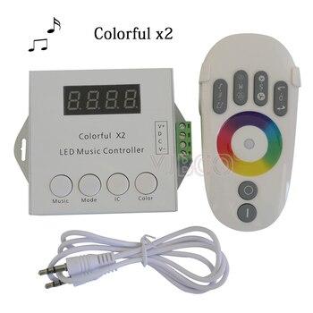 DC5-24V WS2812B WS2811 WS2813 6803 USC1903 IC cyfrowy adresowany taśmy LED pilot do muzyki 1000 pikseli kolorowe kontroler